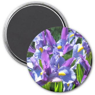 Blue and Purple Irises Magnet