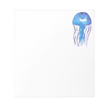 Blue and Purple Jellyfish Notepad