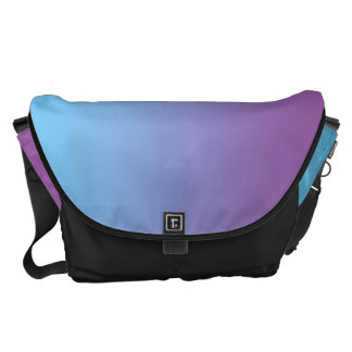 Blue And Purple Large Messenger Bag