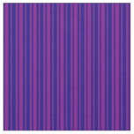 [ Thumbnail: Blue and Purple Lined Pattern Fabric ]