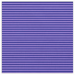 [ Thumbnail: Blue and Purple Lines Pattern Fabric ]