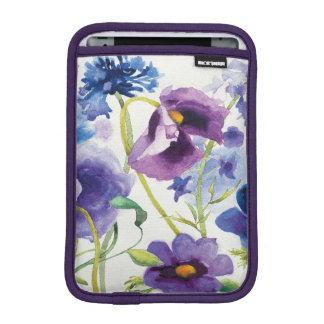 Blue and Purple Mixed Garden iPad Mini Sleeve