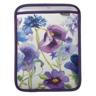 Blue and Purple Mixed Garden iPad Sleeve
