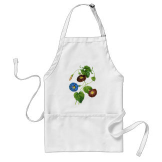 Blue and Purple Morning Glory Vines by Redoute Adult Apron