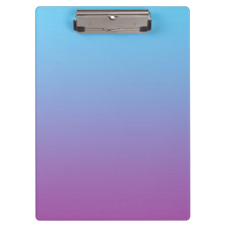 """""""Blue And Purple Ombre"""" Clipboard"""