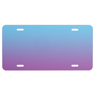"""""""Blue And Purple Ombre"""" License Plate"""