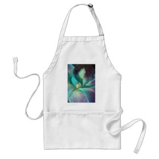 Blue and purple orchid close up adult apron