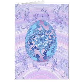 Blue and Purple Painted Egg Card
