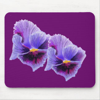 Blue and purple Pansies Mousepad