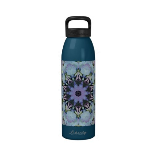 Blue and Purple Pastel Abstract  Water Bottle