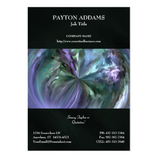 Blue and Purple Pastels Brush Stroke Abstract Business Card Template