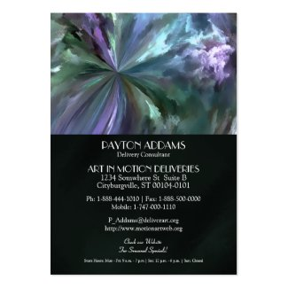 Blue and Purple Pastels Brush Stroke Abstract Business Cards
