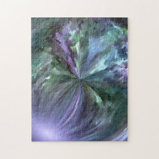 Blue and Purple Pastels Brush Stroke Abstract Puzzle