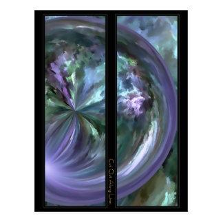 Blue and Purple Pastels Brush Stroke Bookmarks Postcard