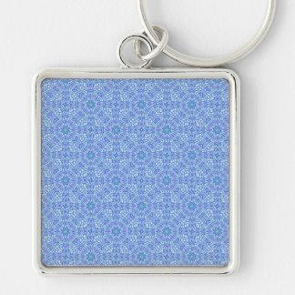 Blue and Purple Pattern Keychain