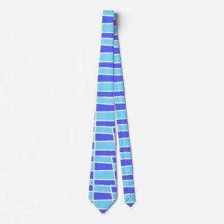 Blue and purple pattern neck tie