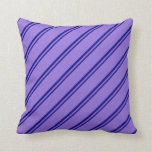 [ Thumbnail: Blue and Purple Pattern Throw Pillow ]