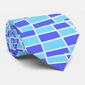 Blue and purple pattern tie