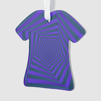 Blue and Purple Pentagon Spiral Ornament