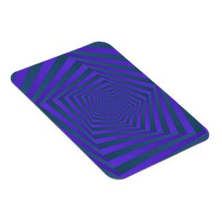 Blue and Purple Pentagon Spiral Rectangular Photo Magnet