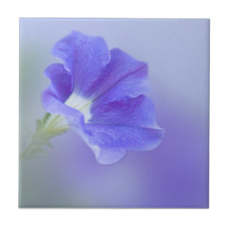 Blue and Purple Petunia Tile
