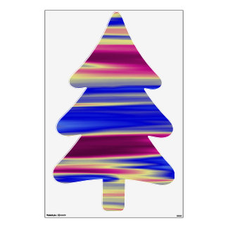 Blue and Purple Pine tree Fir tree Room Graphic
