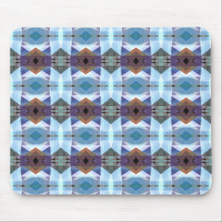 Blue And Purple Plaid Pattern Mouse Pad
