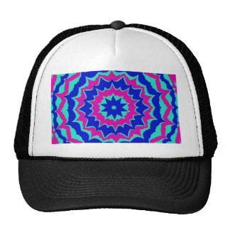 Blue and Purple Points Pattern Trucker Hat