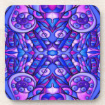 Blue And Purple Psychedelic Swirls Drink Coaster