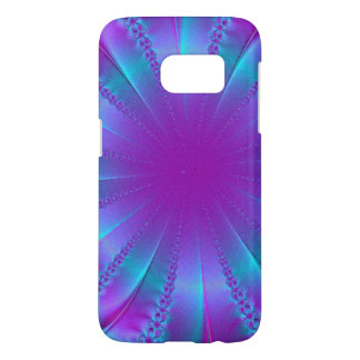 Blue and Purple Ribbon Abstract Samsung Galaxy S7 Case