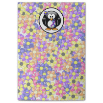 Blue and Purple Ribbon Penguin Post-it Notes