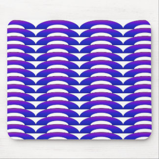 Blue and Purple Ripple Mouse Pad
