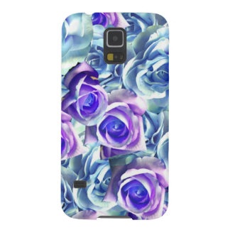 Blue And Purple Roses Case For Galaxy S5