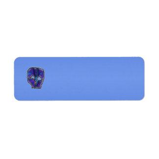 Blue and Purple Skull. Custom Return Address Label