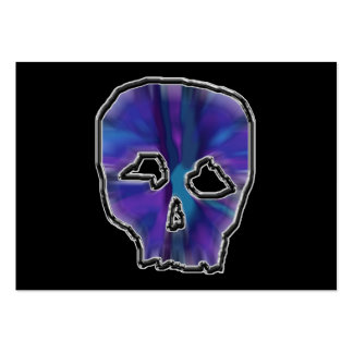 Blue and Purple Skull. Large Business Card