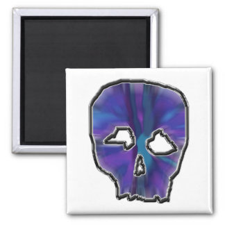 Blue and Purple Skull. Magnet