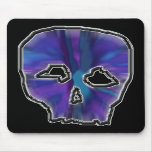 Blue and Purple Skull. Mouse Pads