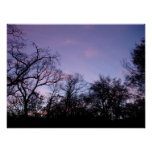 blue and purple sky poster