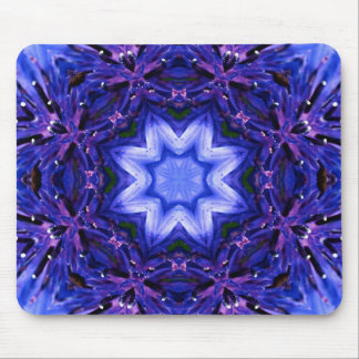 Blue and Purple Snowflake Mouse Pad