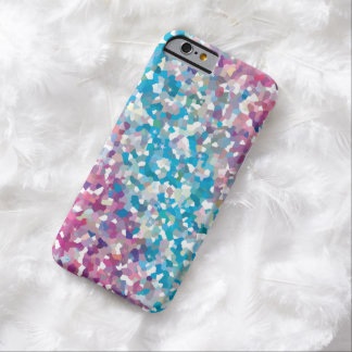 Blue and Purple Sparkly Winter Snow Abstract Art Barely There iPhone 6 Case