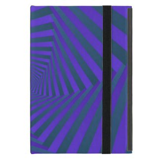 Blue and Purple Spiral  iPad Case