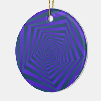 Blue and Purple Spiral Ornament