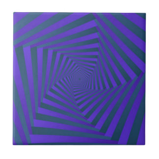 Blue and Purple Spiral tile