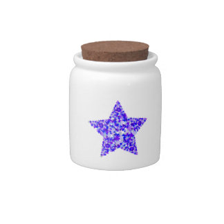 Blue and Purple Star of Stars Candy Jar