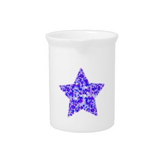 Blue and Purple Star of Stars Pitcher