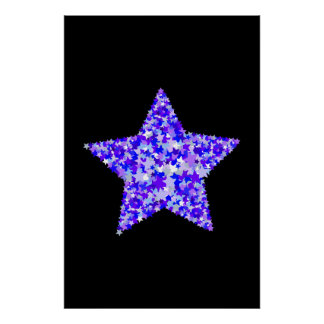 Blue and Purple Star of Stars Poster
