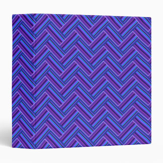 Blue and purple stripes double weave binder