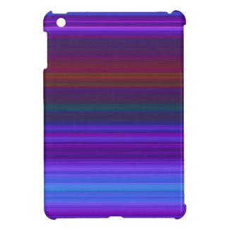 Blue and purple stripes iPad mini case
