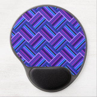 Blue and purple stripes weave gel mouse pad