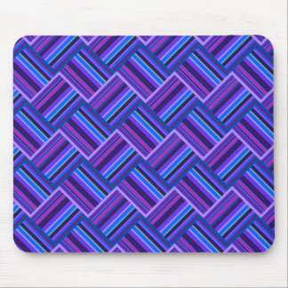 Blue and purple stripes weave mouse pad